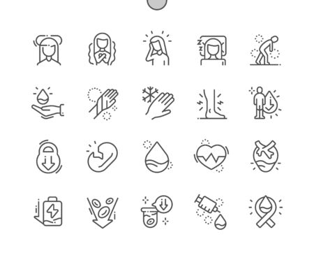 Anemia Well-crafted Pixel Perfect Vector Thin Line Icons 30 2x Grid for Web Graphics and Apps. Simple Minimal Pictogram
