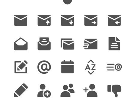 Email v5 UI Pixel Perfect Well-crafted Vector Solid Icons 48x48 Ready for 24x24 Grid for Web Graphics and Apps. Simple Minimal Pictogram Ilustrace