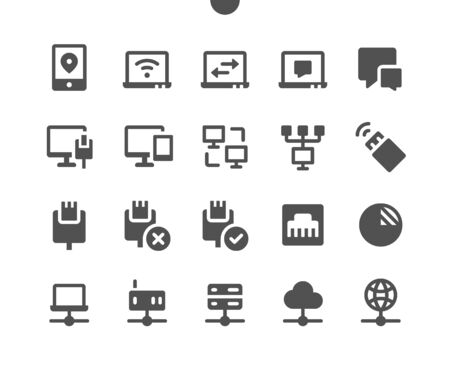Network v3 UI Pixel Perfect Well-crafted Vector Solid Icons 48x48 Ready for 24x24 Grid for Web Graphics and Apps. Simple Minimal Pictogram Ilustração