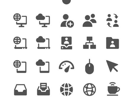 Network v4 UI Pixel Perfect Well-crafted Vector Solid Icons 48x48 Ready for 24x24 Grid for Web Graphics and Apps. Simple Minimal Pictogram Illustration