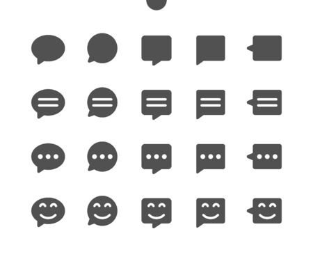 Messages v1 UI Pixel Perfect Well-crafted Vector Solid Icons 48x48 Ready for 24x24 Grid for Web Graphics and Apps. Simple Minimal Pictogram