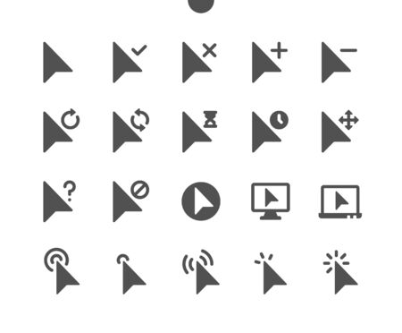 Selection & Cursors v2 UI Pixel Perfect Well-crafted Vector Solid Icons 48x48 Ready for 24x24 Grid for Web Graphics and Apps. Simple Minimal Pictogram