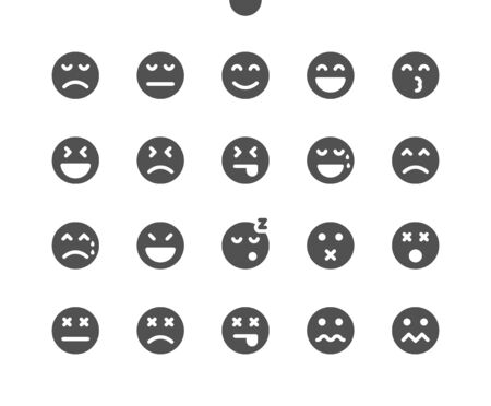 Emotions v2 UI Pixel Perfect Well-crafted Vector Solid Icons 48x48 Ready for 24x24 Grid for Web Graphics and Apps. Simple Minimal Pictogram