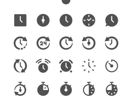 Time v1 UI Pixel Perfetto Vector ben realizzato Icone solide 48x48 Pronto per griglia 24x24 per grafica web e app. Pittogramma minimale semplice