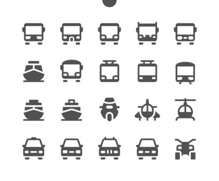 Transport Front View UI Pixel Perfect Well-crafted Vector Solid Icons 48x48 Ready for 24x24 Grid for Web Graphics and Apps. Simple Minimal Pictogram