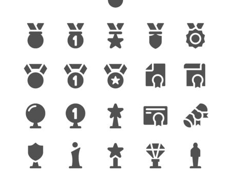 Awards v3 UI Pixel Perfect Well-crafted Vector Solid Icons 48x48 Ready for 24x24 Grid for Web Graphics and Apps. Simple Minimal Pictogram