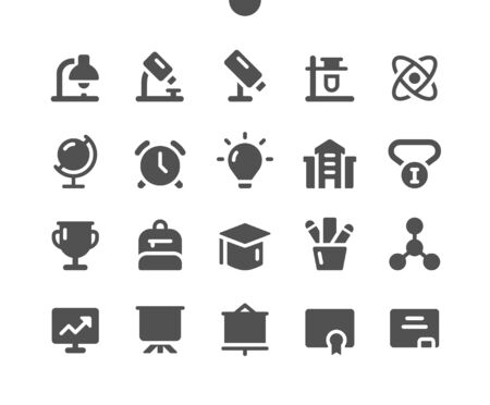 Education v1 UI Pixel Perfect Well-crafted Vector Solid Icons 48x48 Ready for 24x24 Grid for Web Graphics and Apps. Simple Minimal Pictogram  イラスト・ベクター素材