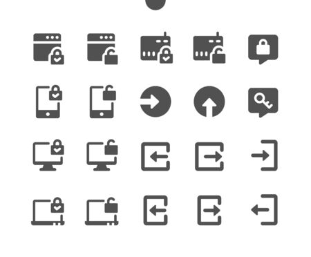 Login v3 UI Pixel Perfect Well-crafted Vector Solid Icons 48x48 Ready for 24x24 Grid for Web Graphics and Apps. Simple Minimal Pictogram Vector Illustration