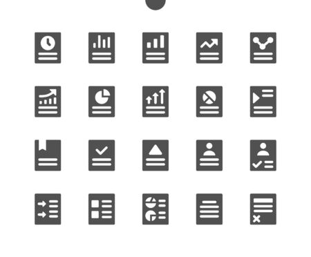 Report v1 UI Pixel Perfect Well-crafted Vector Solid Icons 48x48 Ready for 24x24 Grid for Web Graphics and Apps. Simple Minimal Pictogram
