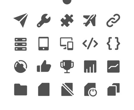 Settings v6 UI Pixel Perfect Well-crafted Vector Solid Icons 48x48 Ready for 24x24 Grid for Web Graphics and Apps. Simple Minimal Pictogram