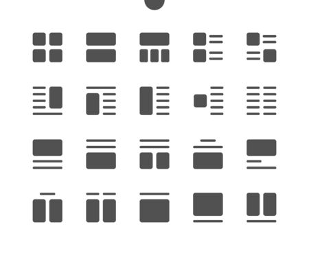 Layout v4 UI Pixel Perfect Well-crafted Vector Solid Icons 48x48 Ready for 24x24 Grid for Web Graphics and Apps. Simple Minimal Pictogram Illustration