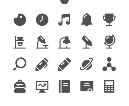School Subjects UI Pixel Perfect Well-crafted Vector Solid Icons 48x48 Ready for 24x24 Grid for Web Graphics and Apps. Simple Minimal Pictogram