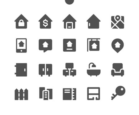 Real Estate UI Pixel Perfect Well-crafted Vector Solid Icons 48x48 Ready for 24x24 Grid for Web Graphics and Apps. Simple Minimal Pictogram