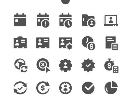 Business v3 UI Pixel Perfect Well-crafted Vector Solid Icons 48x48 Ready for 24x24 Grid for Web Graphics and Apps. Simple Minimal Pictogram