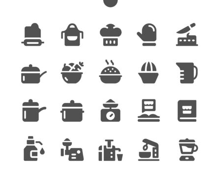Cooking v1 UI Pixel Perfect Well-crafted Vector Solid Icons 48x48 Ready for 24x24 Grid for Web Graphics and Apps. Simple Minimal Pictogram