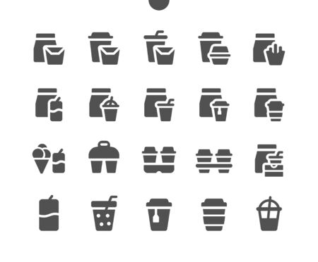 Takeaway (Take out) v3 UI Pixel Perfect Well-crafted Vector Solid Icons 48x48 Ready for 24x24 Grid for Web Graphics and Apps. Simple Minimal Pictogram