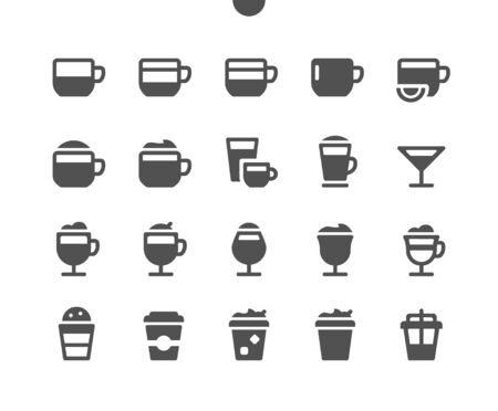 Coffee UI Pixel Perfect Well-crafted Vector Solid Icons 48x48 Ready for 24x24 Grid for Web Graphics and Apps. Simple Minimal Pictogram