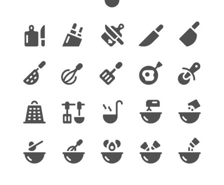 Cooking v2 UI Pixel Perfect Well-crafted Vector Solid Icons 48x48 Ready for 24x24 Grid for Web Graphics and Apps. Simple Minimal Pictogram