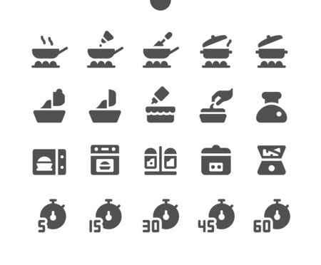 Cooking v3 UI Pixel Perfect Well-crafted Vector Solid Icons 48x48 Ready for 24x24 Grid for Web Graphics and Apps. Simple Minimal Pictogram Ilustracja
