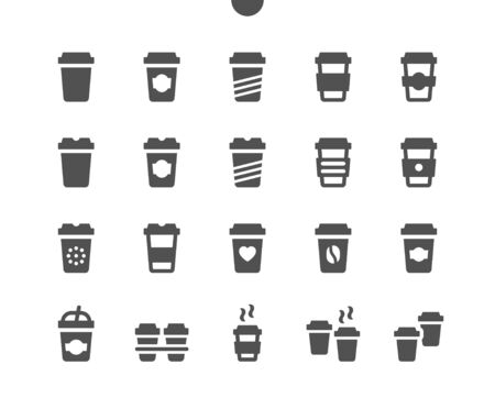 Coffee to go UI Pixel Perfect Well-crafted Vector Solid Icons 48x48 Ready for 24x24 Grid for Web Graphics and Apps. Simple Minimal Pictogram