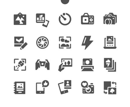 Photo Well-crafted Pixel Perfect Vector Solid Icons 30 2x Grid for Web Graphics and Apps. Simple Minimal Pictogram