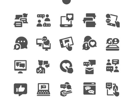 Chat Well-crafted Pixel Perfect Vector Solid Icons 30 2x Grid for Web Graphics and Apps. Simple Minimal Pictogram