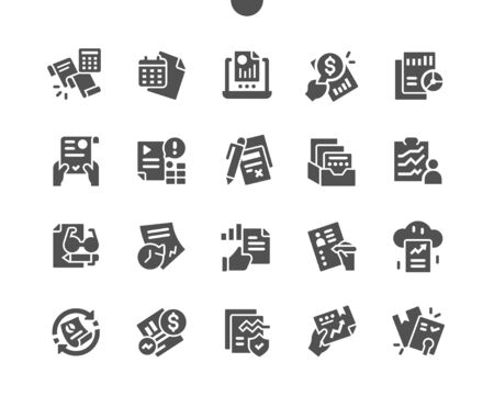 Report Well-crafted Pixel Perfect Vector Solid Icons 30 2x Grid for Web Graphics and Apps. Simple Minimal Pictogram