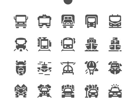 Transport Front View Well-crafted Pixel Perfect Vector Solid Icons 30 2x Grid for Web Graphics and Apps. Simple Minimal Pictogram