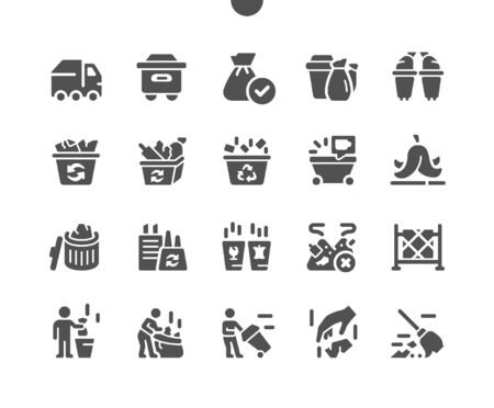 Garbage Well-crafted Pixel Perfect Vector Solid Icons 30 2x Grid for Web Graphics and Apps. Simple Minimal Pictogram