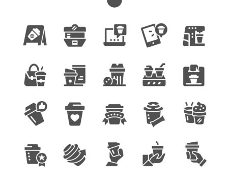 Coffee to go Well-crafted Pixel Perfect Vector Solid Icons 30 2x Grid for Web Graphics and Apps. Simple Minimal Pictogram Vectores