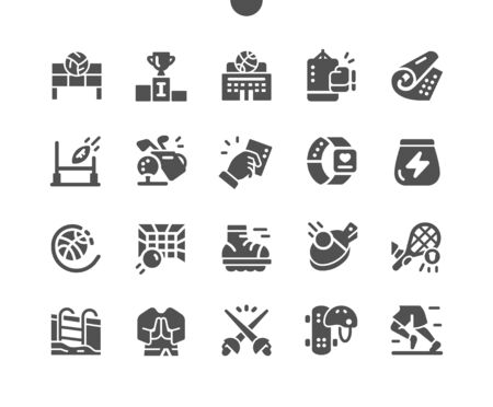 Sport Well-crafted Pixel Perfect Vector Solid Icons 30 2x Grid for Web Graphics and Apps. Simple Minimal Pictogram
