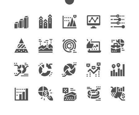 Charts Well-crafted Pixel Perfect Vector Solid Icons 30 2x Grid for Web Graphics and Apps. Simple Minimal Pictogram