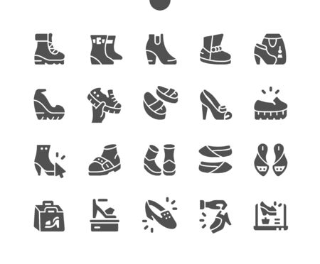 Women's shoes Well-crafted Pixel Perfect Vector Solid Icons 30 2x Grid for Web Graphics and Apps. Simple Minimal Pictogram