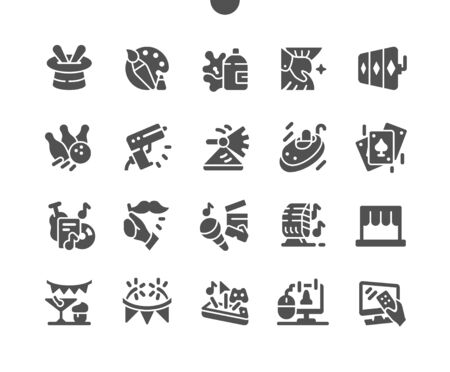 Entertainment Well-crafted Pixel Perfect Vector Solid Icons 30 2x Grid for Web Graphics and Apps. Simple Minimal Pictogram
