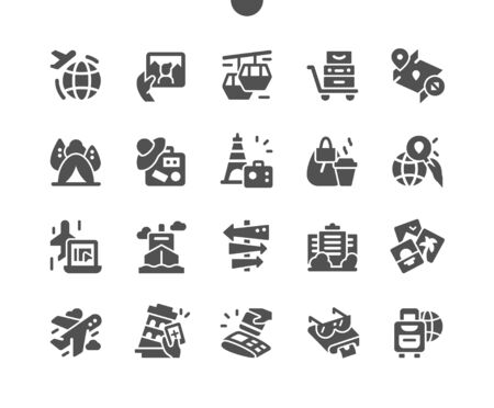 Travelling Well-crafted Pixel Perfect Vector Solid Icons 30 2x Grid for Web Graphics and Apps. Simple Minimal Pictogram