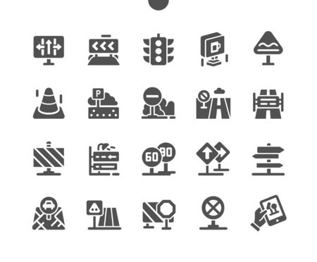 Road sign Well-crafted Pixel Perfect Vector Solid Icons 30 2x Grid for Web Graphics and Apps. Simple Minimal Pictogram 免版税图像 - 150143547