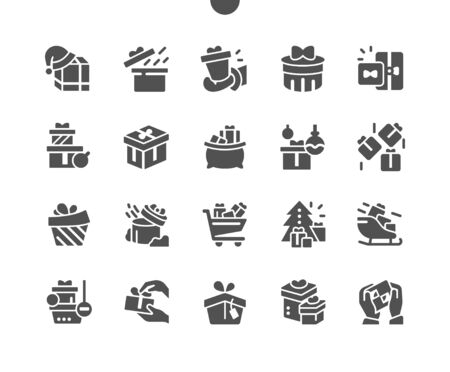 Gifts Well-crafted Pixel Perfect Vector Solid Icons 30 2x Grid for Web Graphics and Apps. Simple Minimal Pictogram