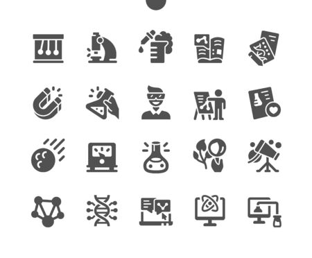 Science Well-crafted Pixel Perfect Vector Solid Icons 30 2x Grid for Web Graphics and Apps. Simple Minimal Pictogram