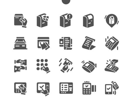 Terminal Well-crafted Pixel Perfect Vector Solid Icons 30 2x Grid for Web Graphics and Apps. Simple Minimal Pictogram Ilustração