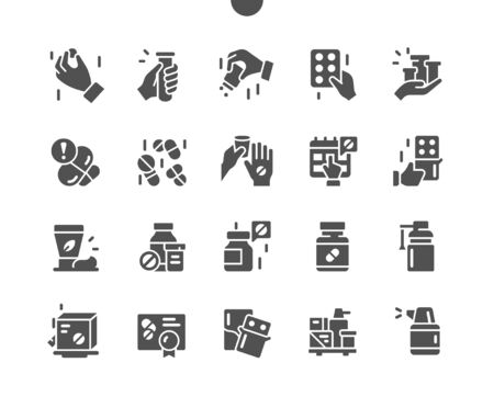 Medicine Well-crafted Pixel Perfect Vector Solid Icons 30 2x Grid for Web Graphics and Apps. Simple Minimal Pictogram Ilustração