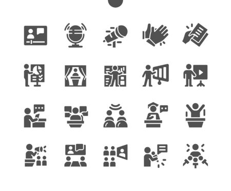 Public Speech Well-crafted Pixel Perfect Vector Solid Icons 30 2x Grid for Web Graphics and Apps. Simple Minimal Pictogram