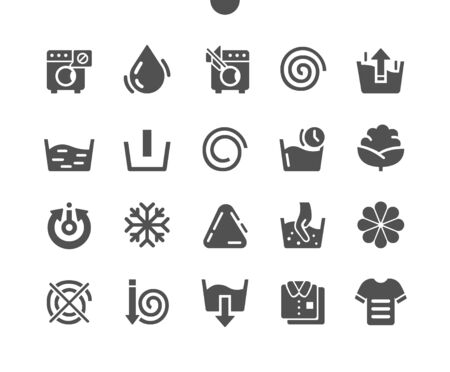 Washing machine Well-crafted Pixel Perfect Vector Solid Icons 30 2x Grid for Web Graphics and Apps. Simple Minimal Pictogram Ilustração