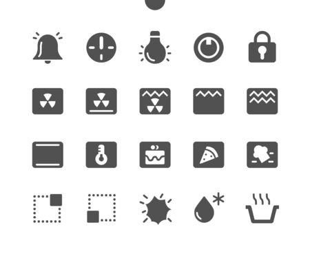 Oven Symbols Well-crafted Pixel Perfect Vector Solid Icons 30 2x Grid for Web Graphics and Apps. Simple Minimal Pictogram Ilustração