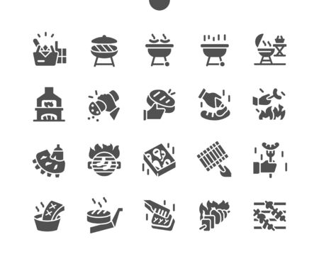 Barbecue Well-crafted Pixel Perfect Vector Solid Icons 30 2x Grid for Web Graphics and Apps. Simple Minimal Pictogram
