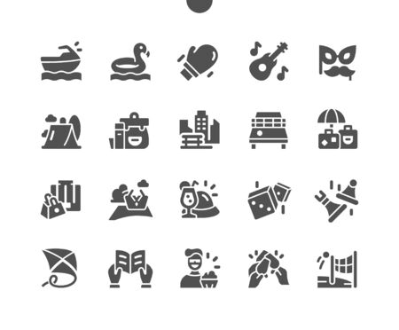 Leisure Well-crafted Pixel Perfect Vector Solid Icons 30 2x Grid for Web Graphics and Apps. Simple Minimal Pictogram Ilustracja