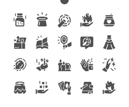Magic Well-crafted Pixel Perfect Vector Solid Icons 30 2x Grid for Web Graphics and Apps. Simple Minimal Pictogram