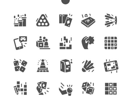 Games Well-crafted Pixel Perfect Vector Solid Icons 30 2x Grid for Web Graphics and Apps. Simple Minimal Pictogram