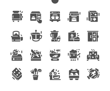 Kitchen Well-crafted Pixel Perfect Vector Solid Icons 30 2x Grid for Web Graphics and Apps. Simple Minimal Pictogram