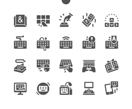Keyboard Well-crafted Pixel Perfect Vector Solid Icons 30 2x Grid for Web Graphics and Apps. Simple Minimal Pictogram