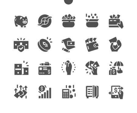 Money Well-crafted Pixel Perfect Vector Solid Icons 30 2x Grid for Web Graphics and Apps. Simple Minimal Pictogram